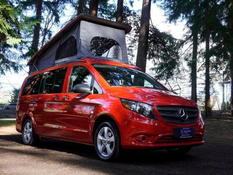 This $67,511 pop-top camper van built in a 2020 Mercedes-Benz minivan has two separate beds a??В see inside the 'Backroad'