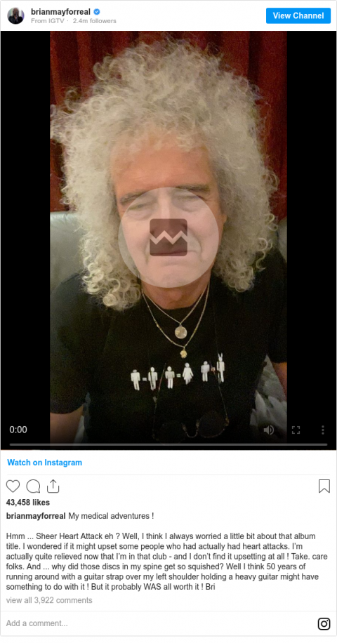 Brian May says he was
