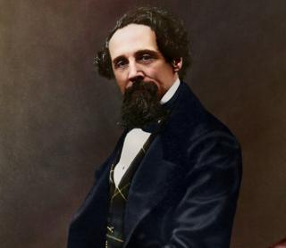 Charles Dickens: Black-and-white photos of author colourised