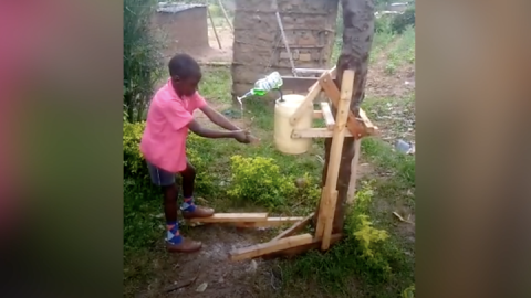 Coronavirus: Kenyan boy who made hand-washing machine awarded