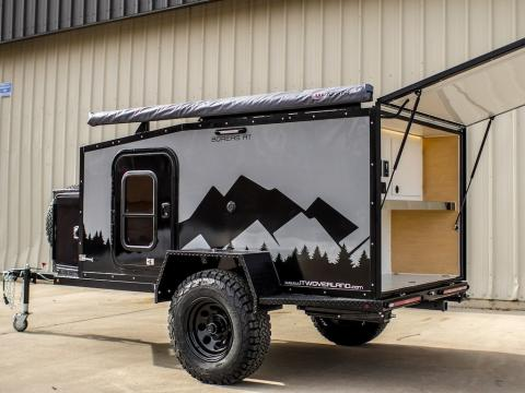 This entry-level, $18,900 camper trailer fits a queen size bed and is equipped to go off-road a??В see inside the Boreas AT