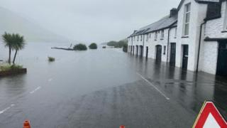 Wales flooding: Historic hotel suffers after heavy rain