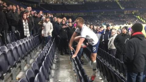 Tottenham midfielder Dier banned for confronting fan