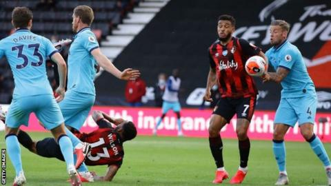 Bournemouth denied by late VAR decision in draw with Spurs