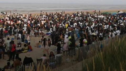 Greatstone beach party: Kent Police says four officers were injured