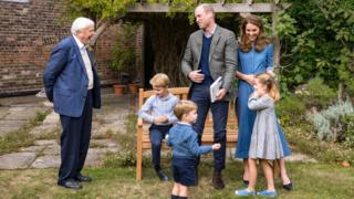 Sir David Attenborough: Naturalist gives Prince George a fossil at royal screening